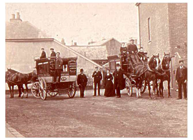 Lake's Posting and Livery Stables, London & Bedford Booking Office opposite London Hotel, Sidmouth